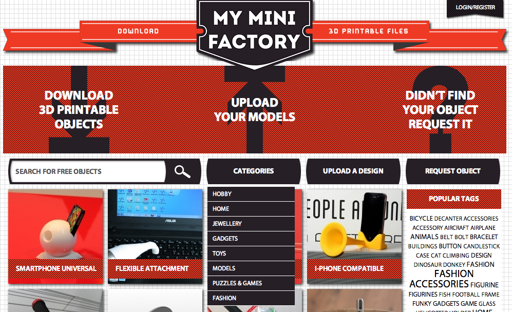 Copie ecran My Mini Factory 1