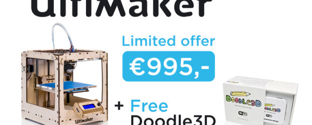 Un bundle Ultimaker + Doodle 3D à 995€