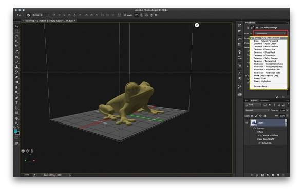 Adobe Photoshop CC prend désormais en charge l'impression 3D