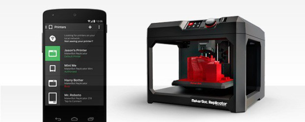 MakerBot lance une application Android pour l'impression 3D